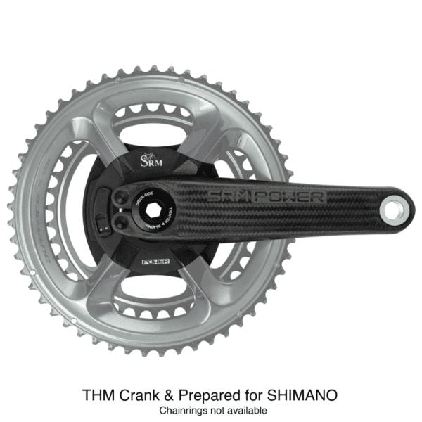 SRM Manivela do Powermeter THM de carbono de origem rodoviária Shimano XP Sport.de