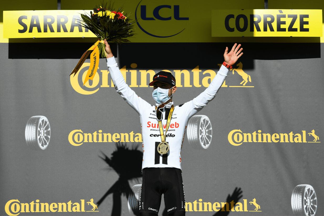 Marc Hirschi mit seinem ersten Profisieg bei der Tour de France