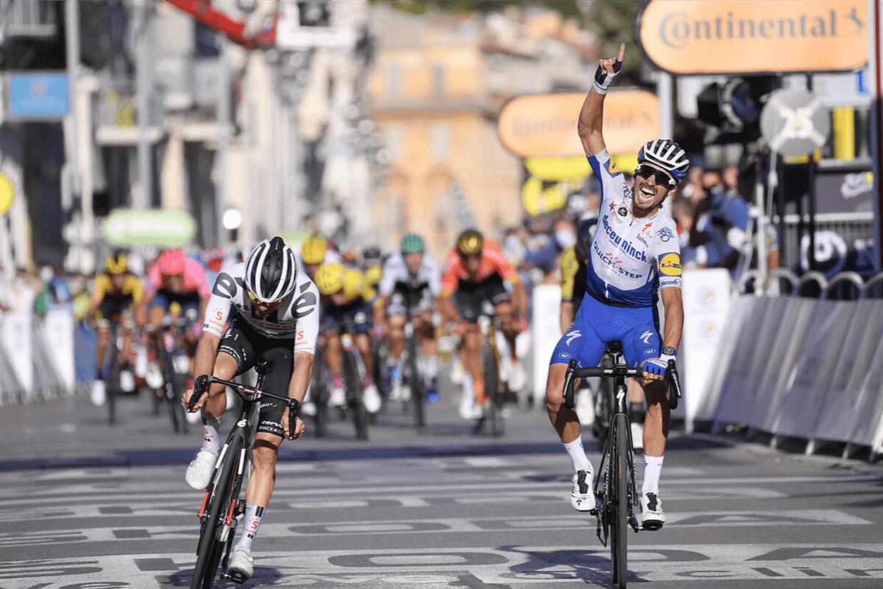 Julian Alaphilippe gewinnt die zweite Etappe der Tour de France 2020