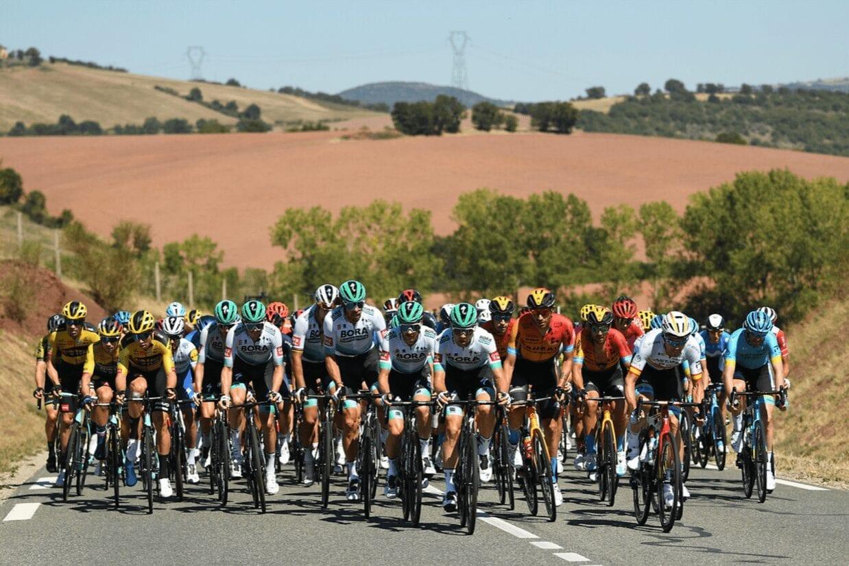 Windkante am siebten Tag der Tour de France
