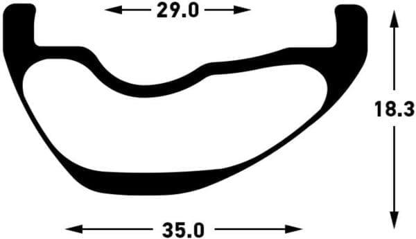 Stans NoTubes ZTR Flow CB7 Carbon Laufradsatz Wheelset Profil